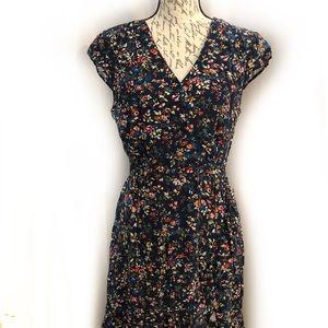 J Crew Faux Wrap Style Floral Dress Size 10T